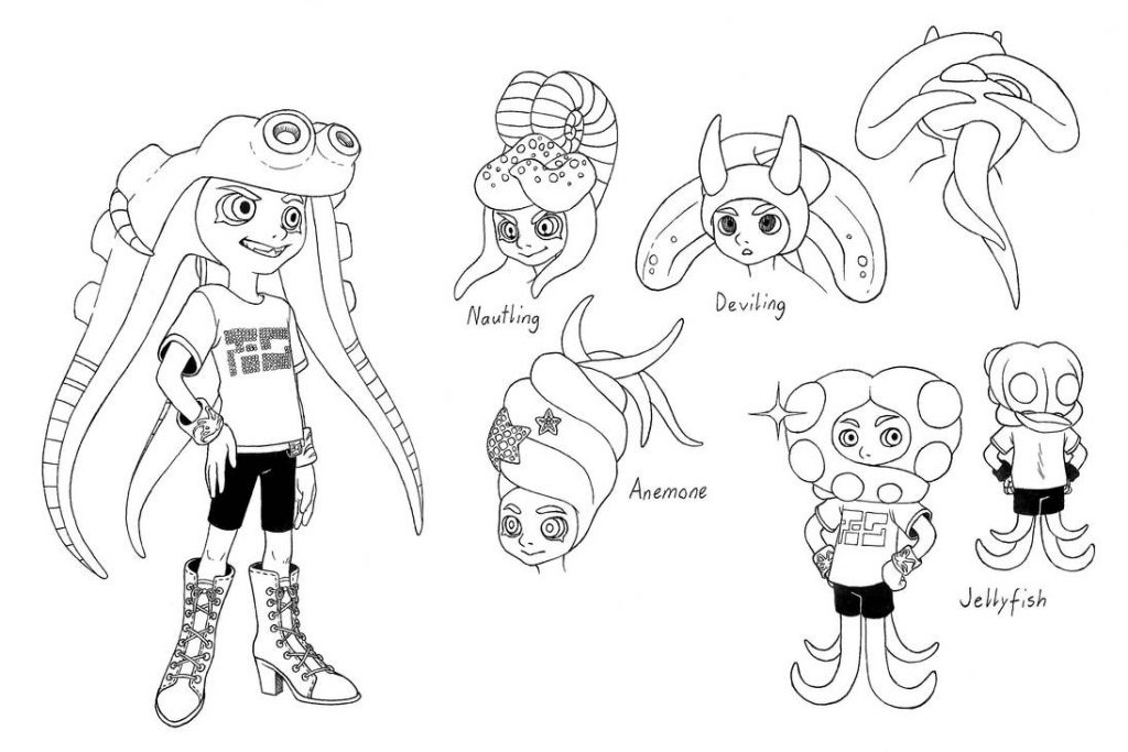 Splatoon Characters Coloring Pages