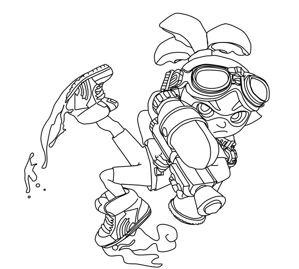Splatoon Inkling Boy Coloring Page