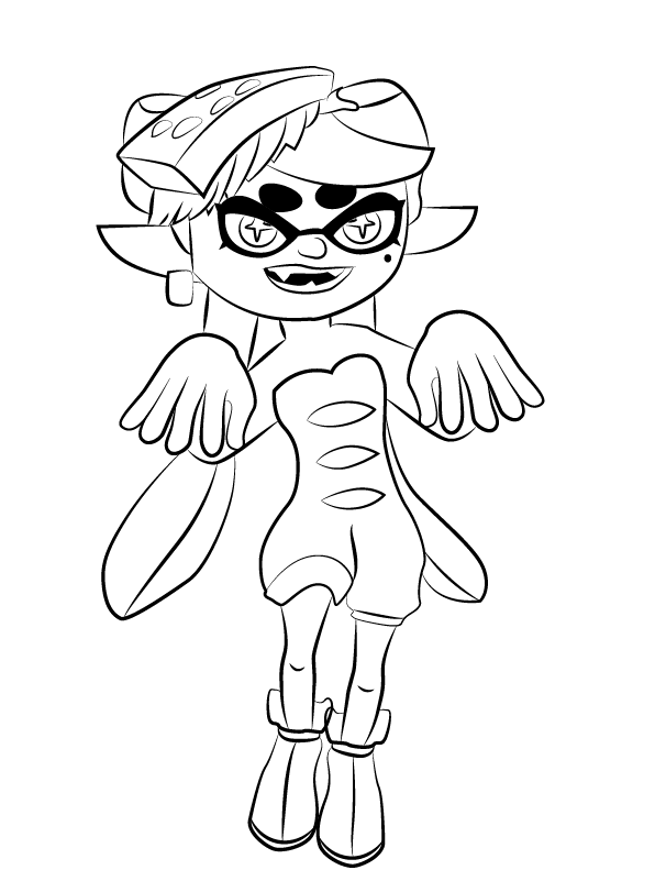 Splatoon Squid Sister Coloring Page