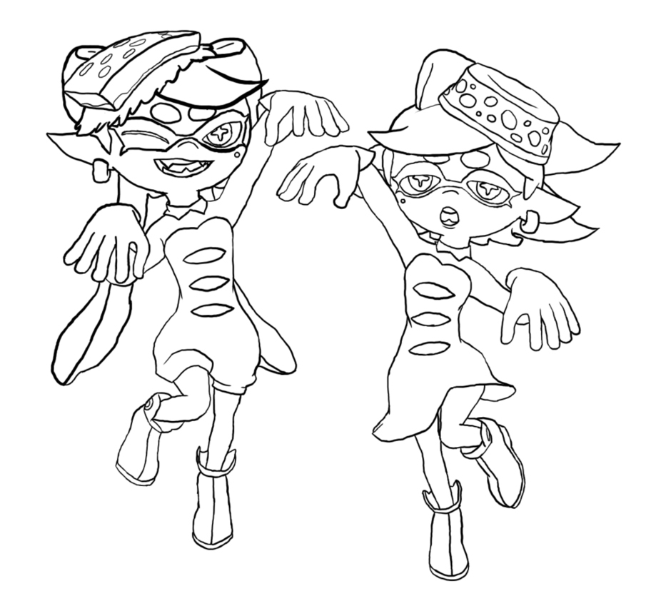 Splatoon Squid Sisters Coloring Pages