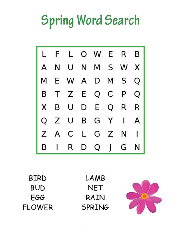 Spring - Third Grade Word Search