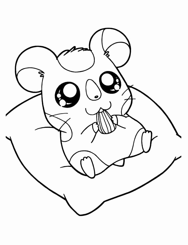 Sweet Hamster Coloring Pages