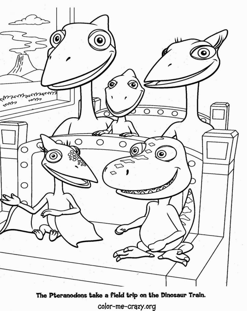 The Pteranodons Dinosaur Train Coloring Page