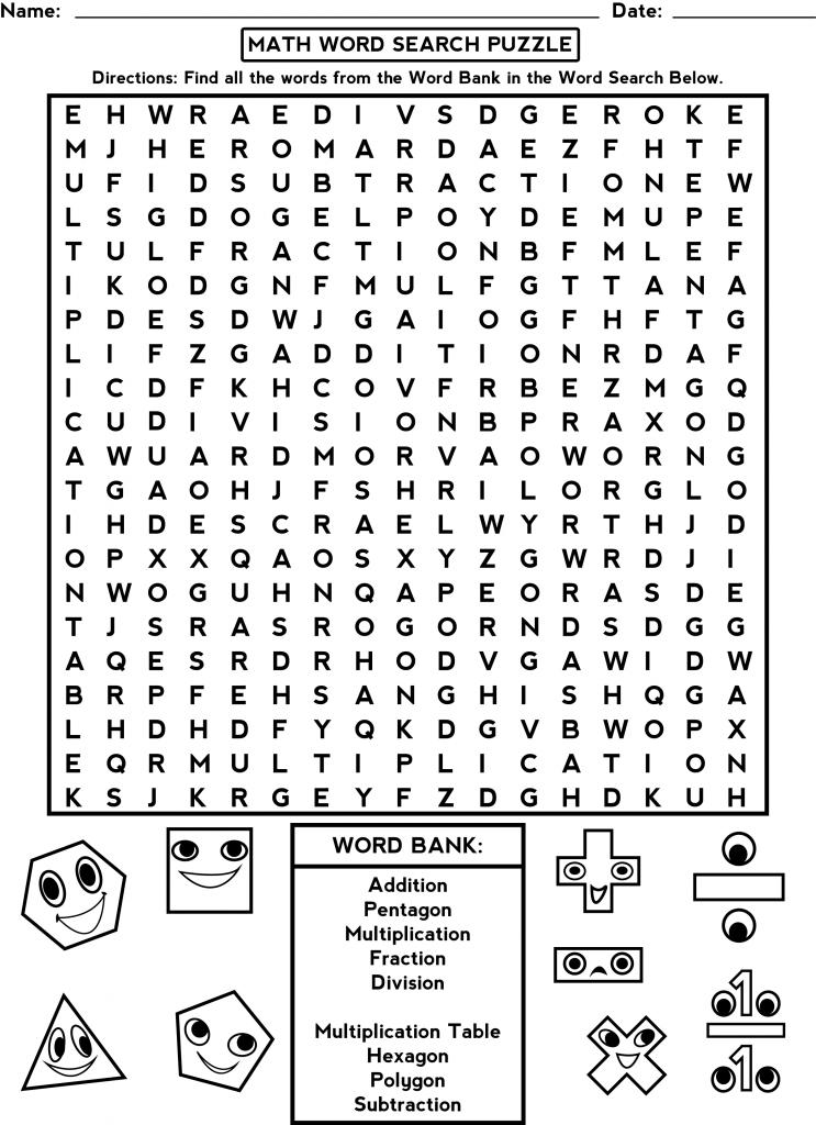 Third Grade Math Word Search