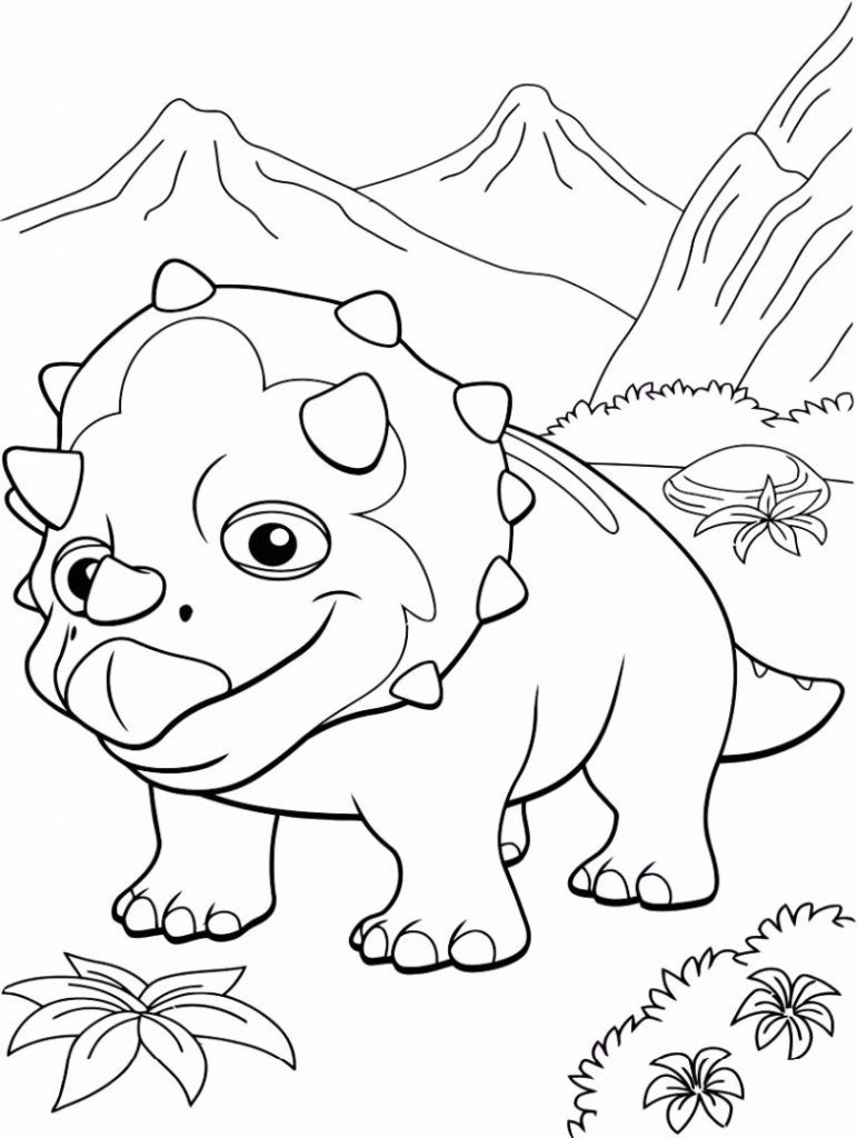 Triceratops Dinosaur Train Coloring Page
