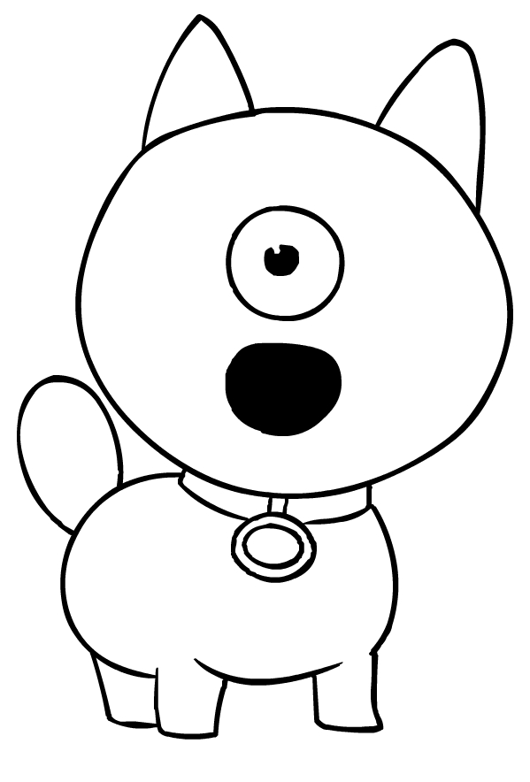 Ugly Dog Coloring Page