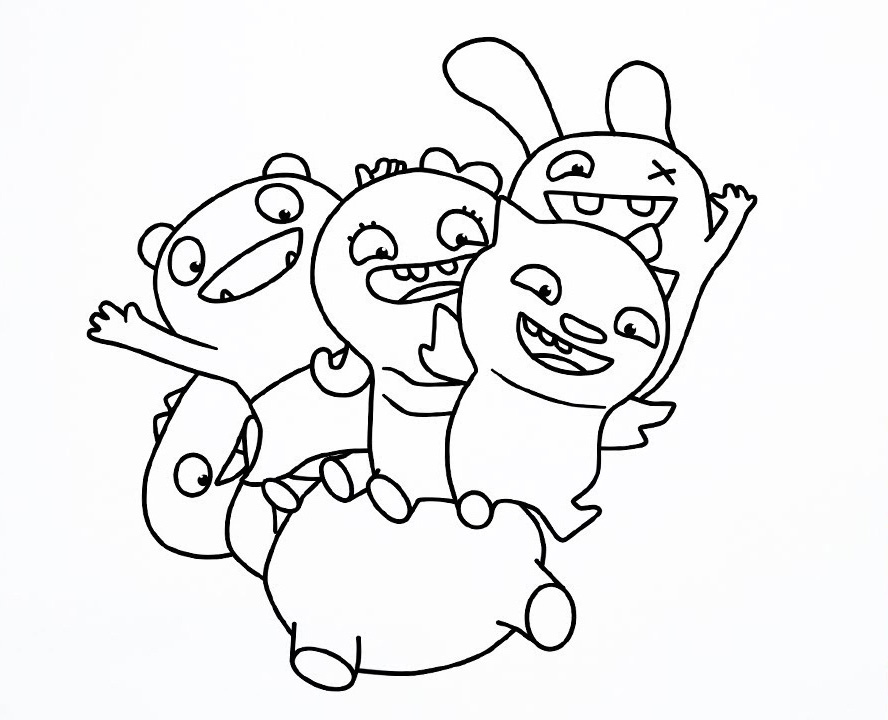 Ugly Doll Characters Coloring Pages