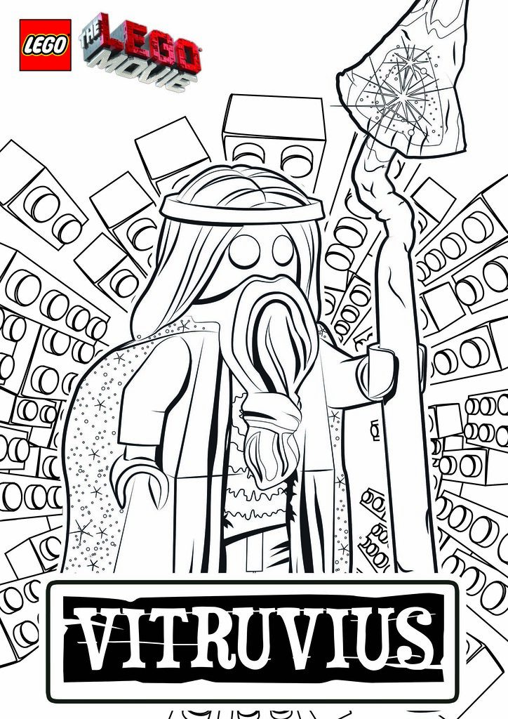 Vitruvius Lego Movie Coloring Pages 724x1024