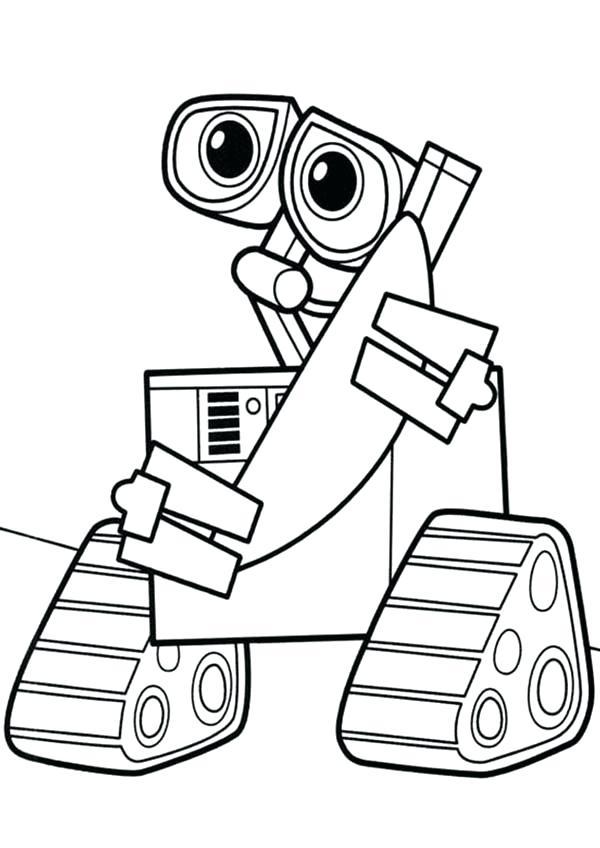 Wall-E Coloring Printable
