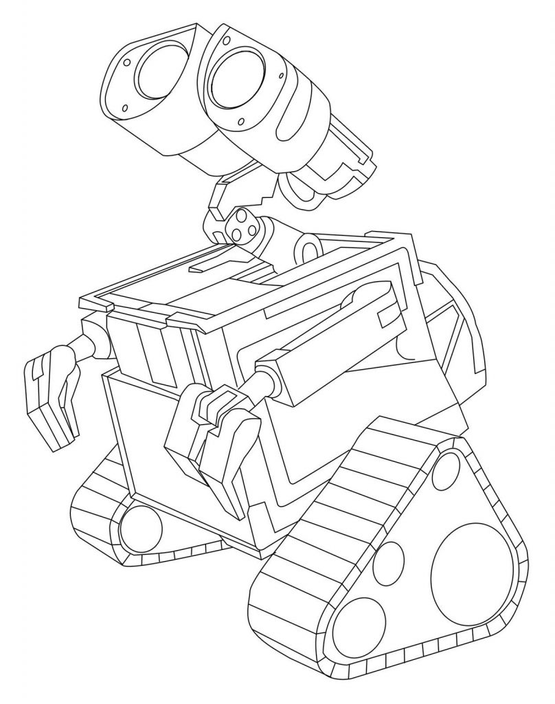 WallE Coloring Printables