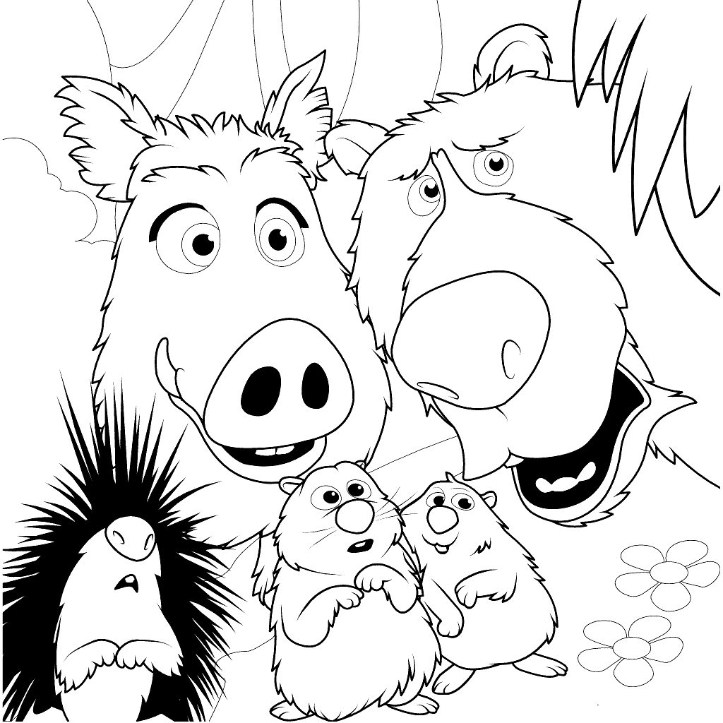 Wonder Park Character Coloring Pages