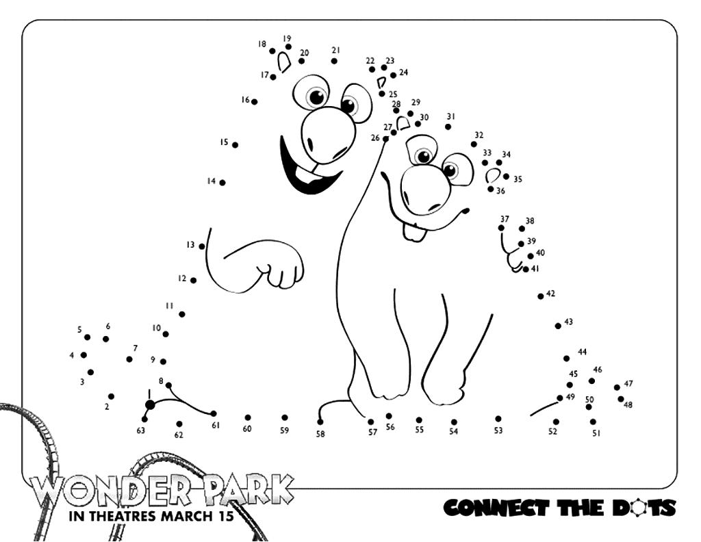 Wonder Park Connect the Dots Printable
