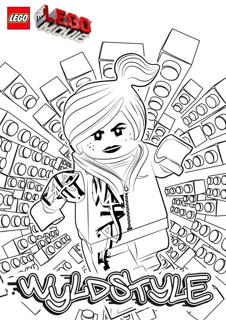 WyldStyle - Lego Movie Coloring Pages