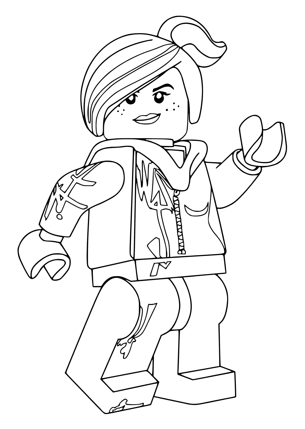 Wyldstyle Lego Movie Coloring Pages