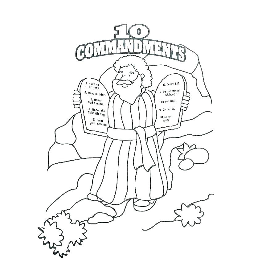 photo about 10 Commandments Printable identified as 10 Commandments Coloring Webpages - Suitable Coloring Web pages For Young children