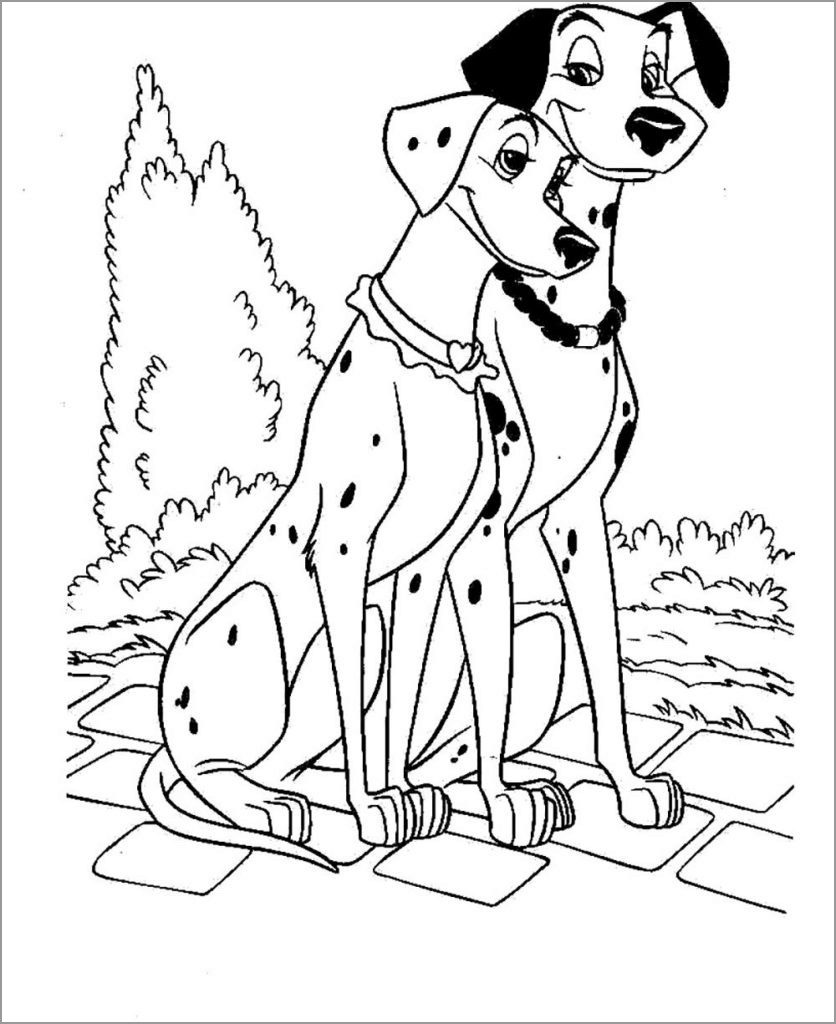 101 Dalmation Parents Coloring Pages