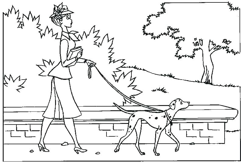 101 Dalmations Characters Coloring Pages