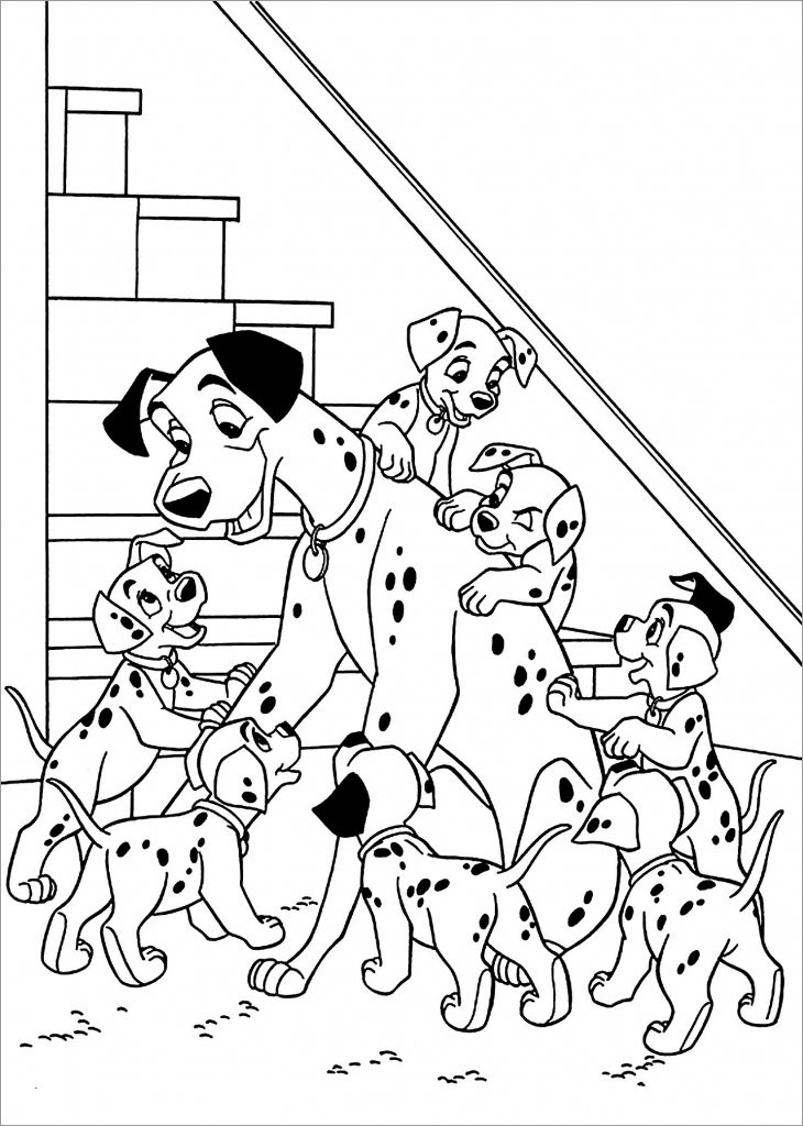 101 Dalmations Coloring Page Printables