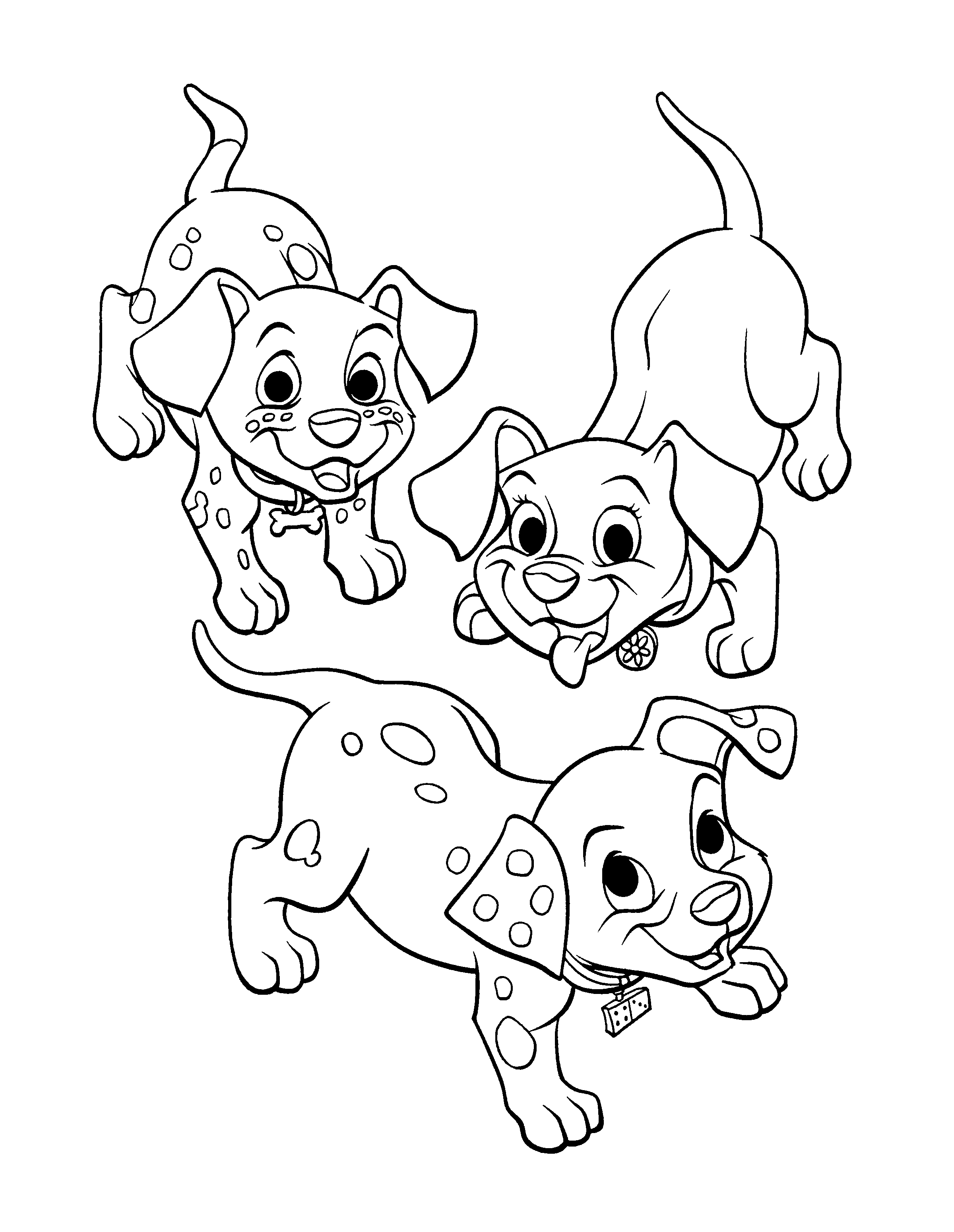 101 Dalmations Puppy Coloring Pages