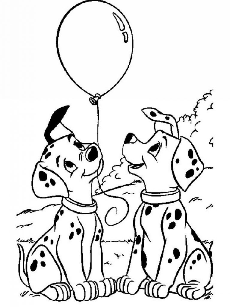 101 Dalmations Coloring Pages