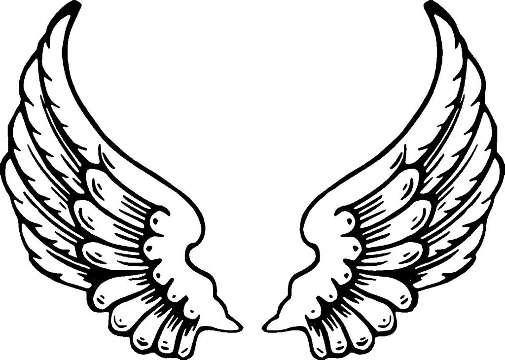 Angel Wing Tattoo Coloring Page Adults