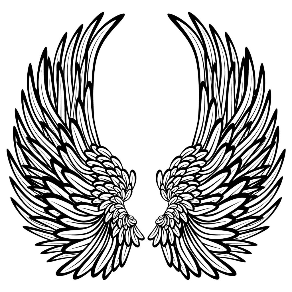 Angel Wings Coloring Pages for Adults