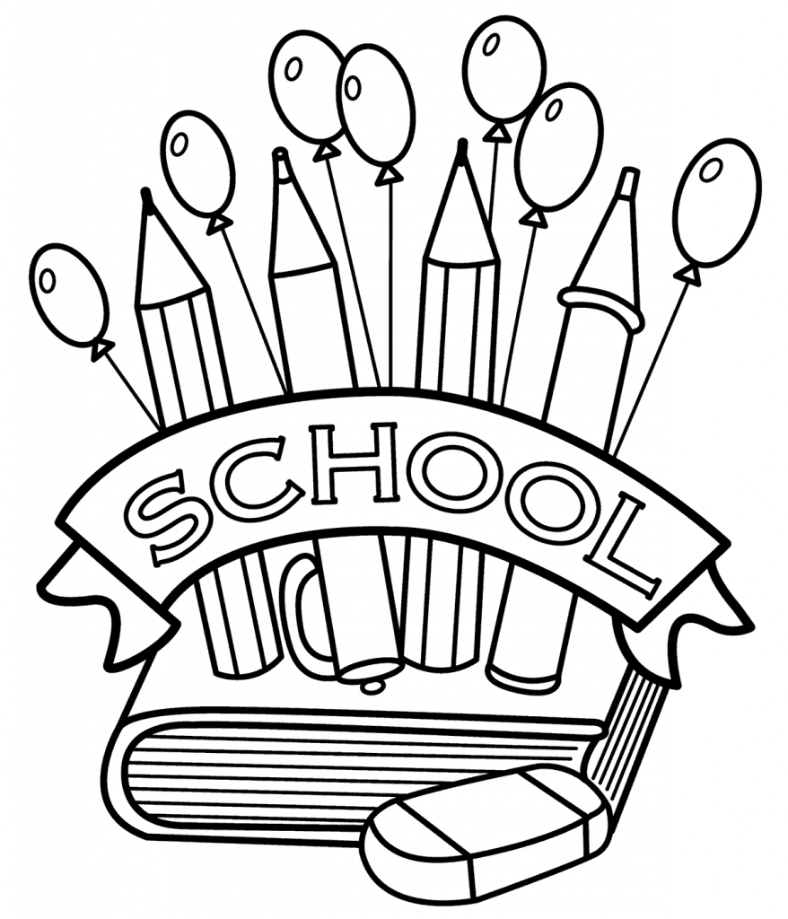 Back to School in September Coloring Page