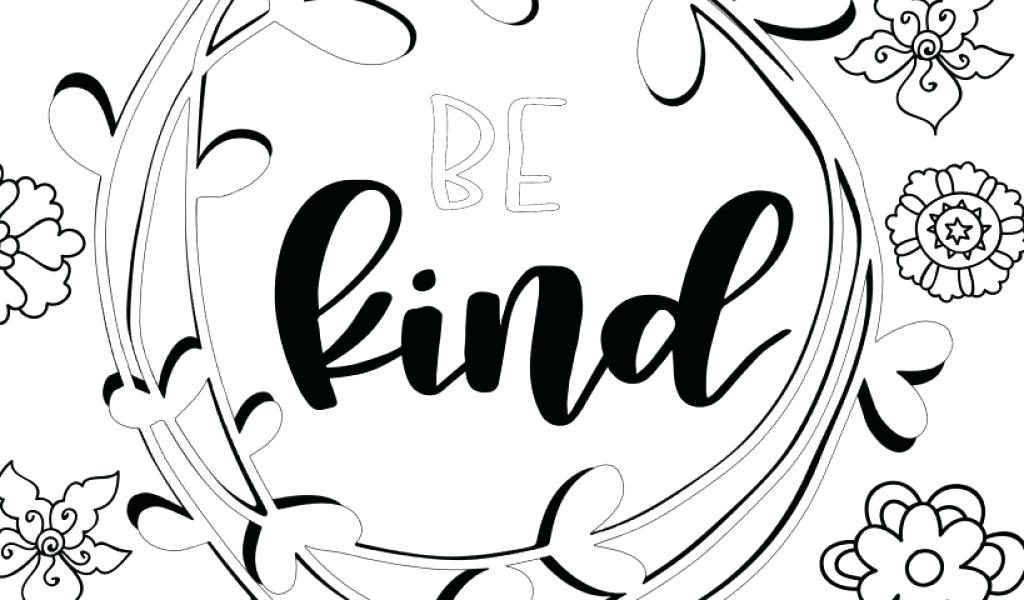 Be Kind - Coloring Pages