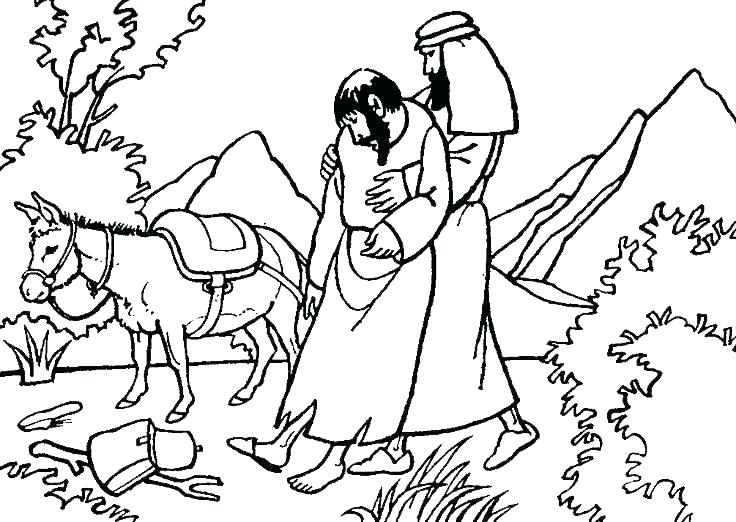 Bible Coloring Pages - Good Samaritan