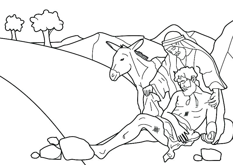 Bible Good Samaritan Coloring Pages