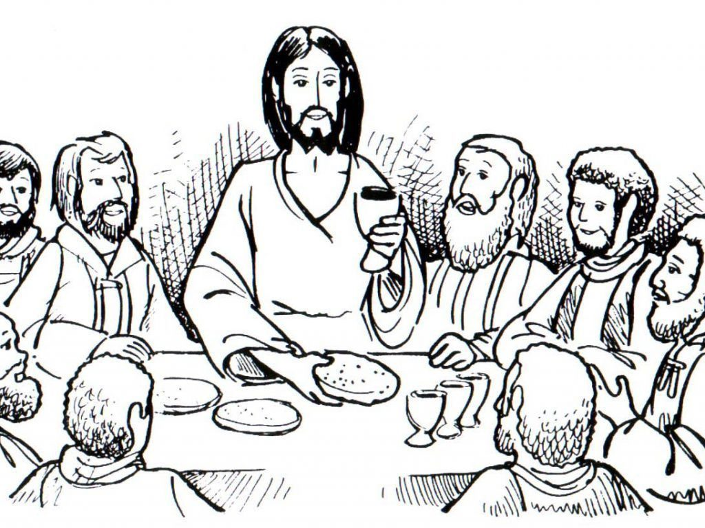 Bible Last Supper Coloring Pages