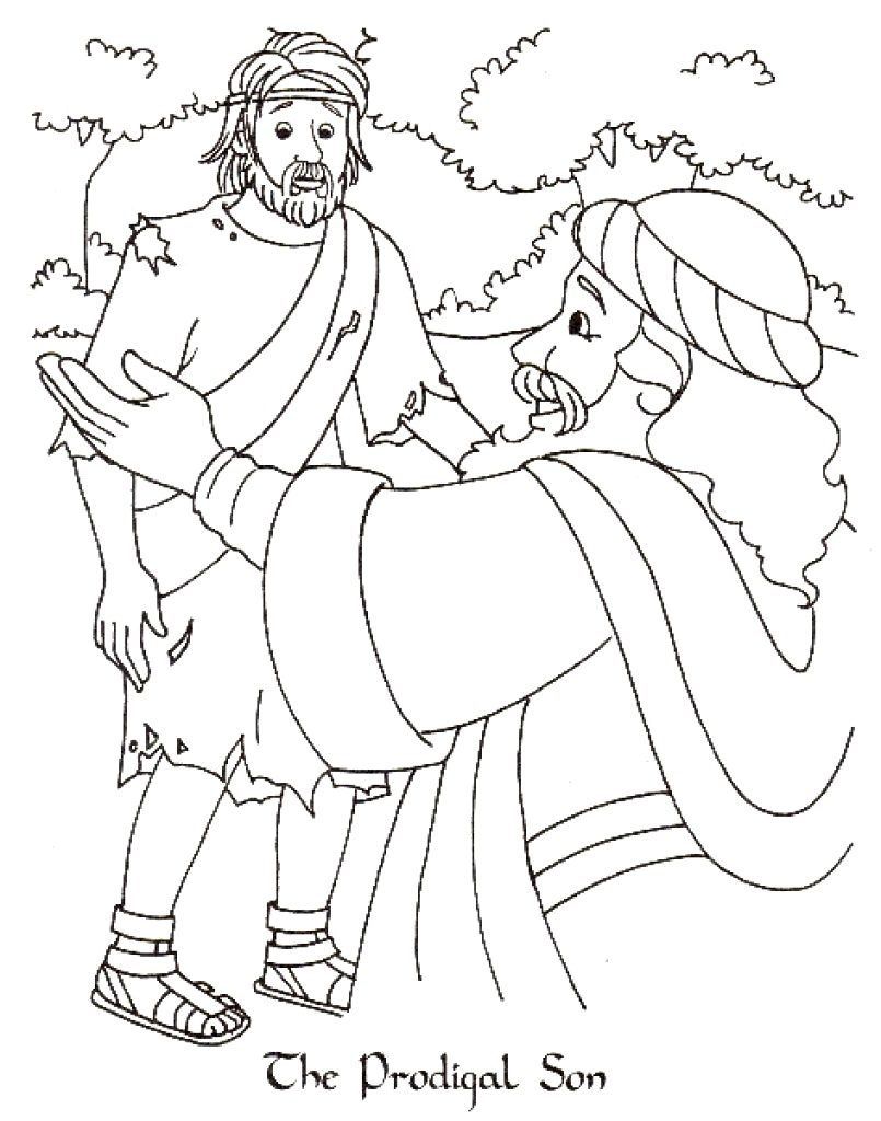 Bible Story Prodigal Son Coloring Pages