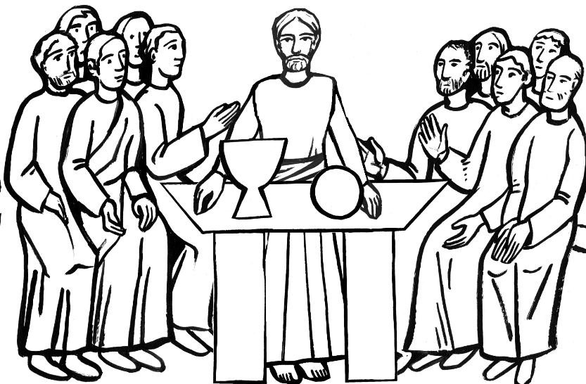 Bible Story - The Last Supper Coloring Page