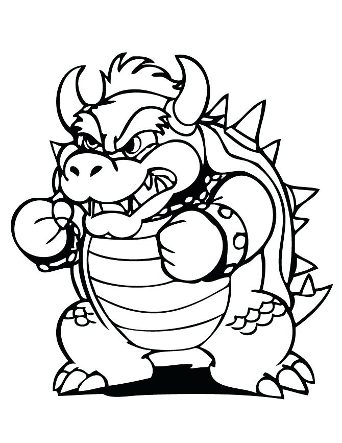 Bowser Coloring Page Printable