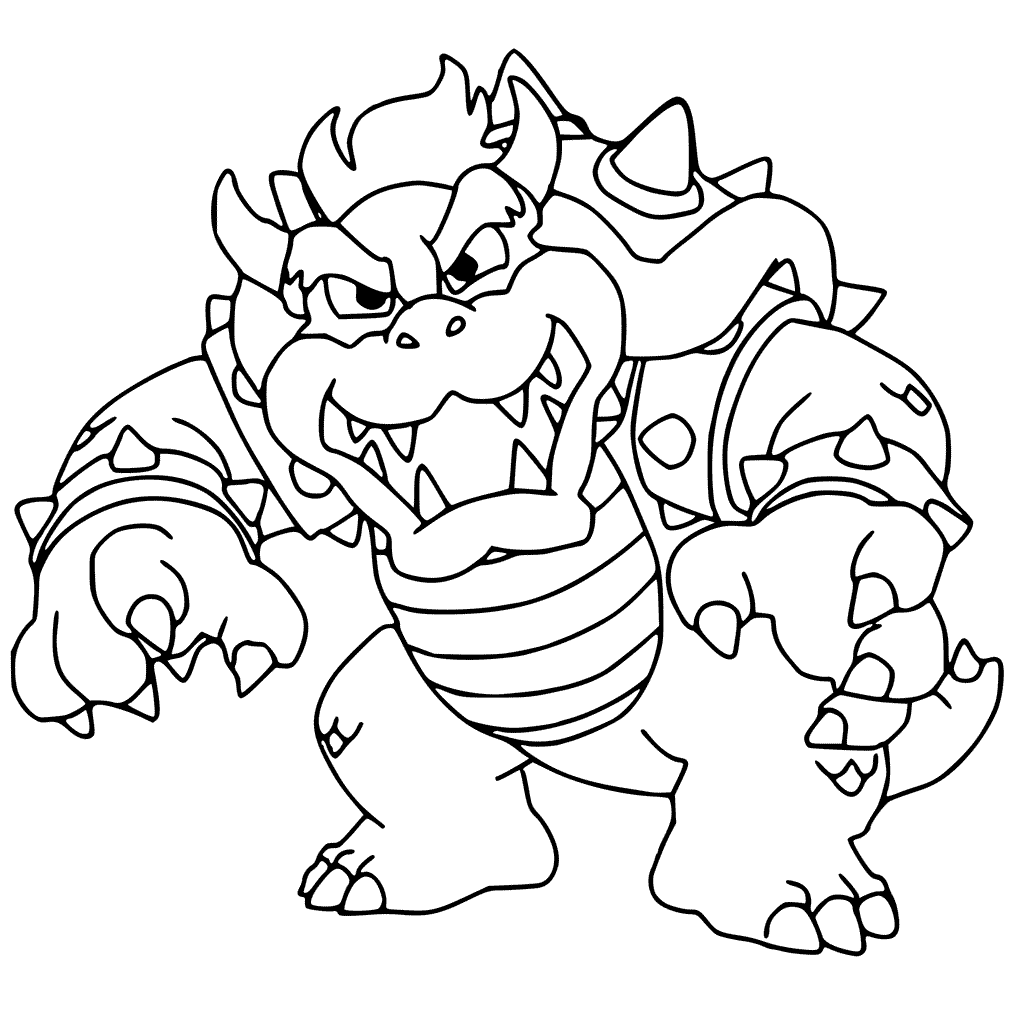 Bowser Coloring Page Printables