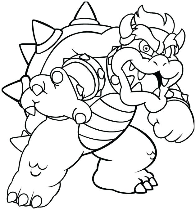 Bowser Coloring Pages