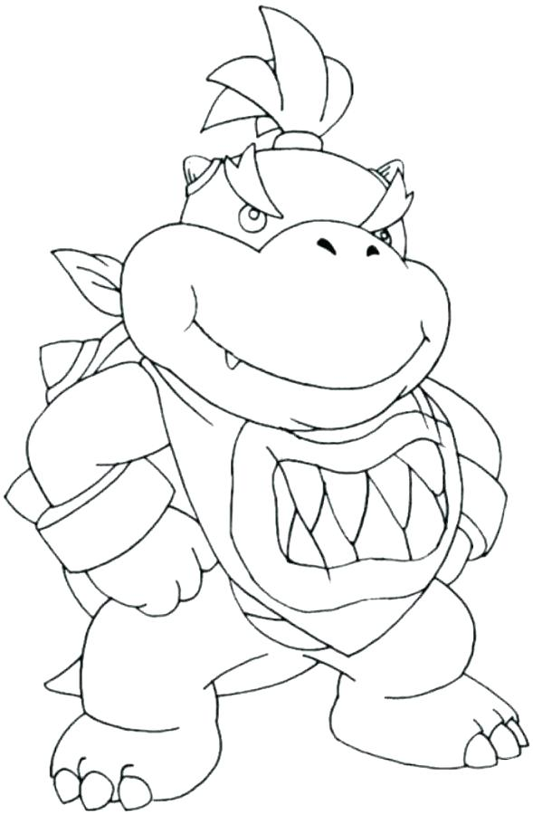 Bowser Jr Art Coloring Pages
