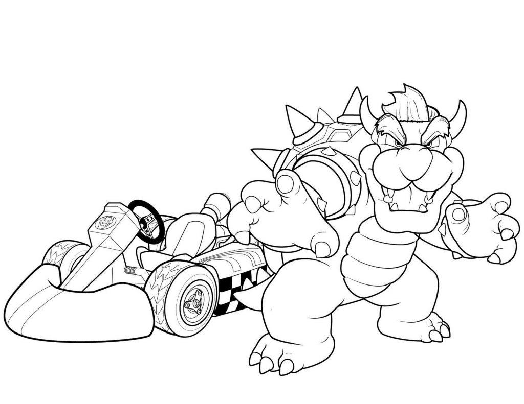 Bowser Kart Coloring Page
