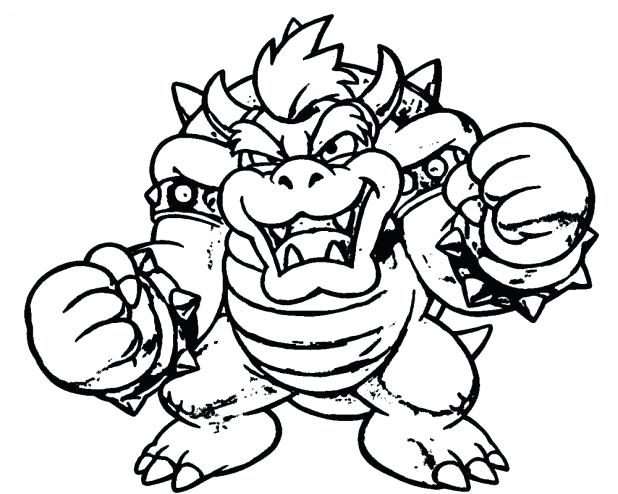 Bowser King of the Koopas Coloring Page