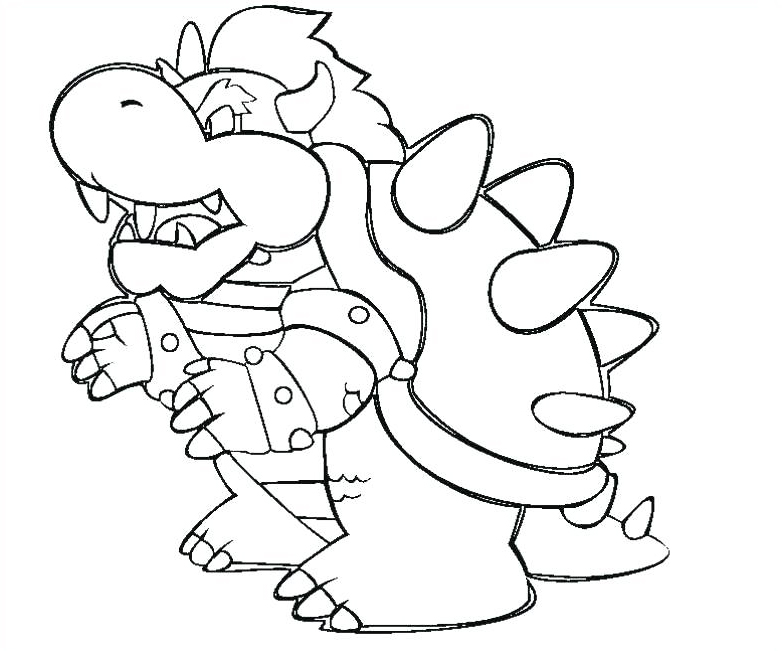 Bowser Super Mario Coloring Pages