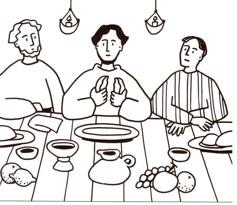 Bread - Last Supper Coloring Pages
