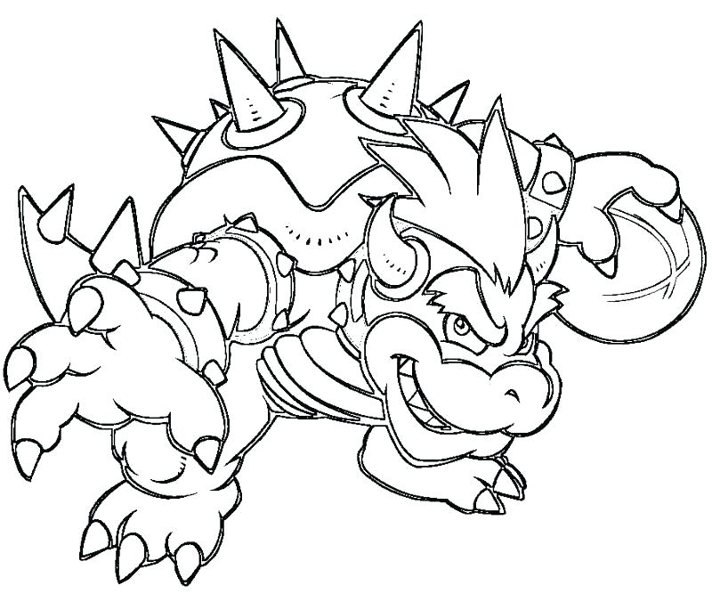 Cool Bowser Coloring Pages