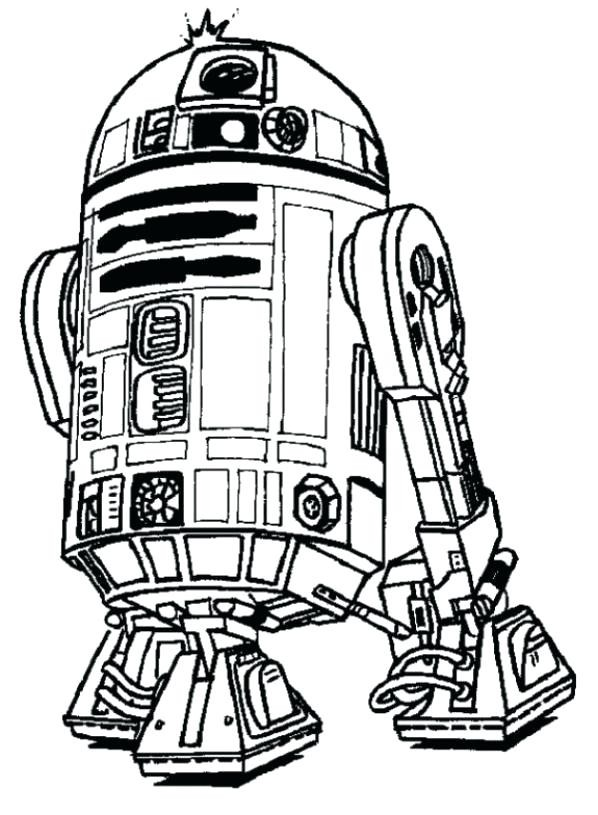 Cool R2D2 Coloring Pages