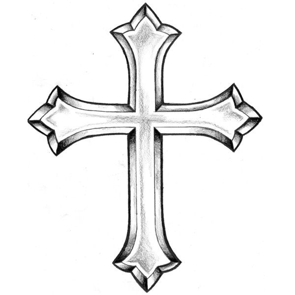 Cross Tattoo Coloring Pages for Adults