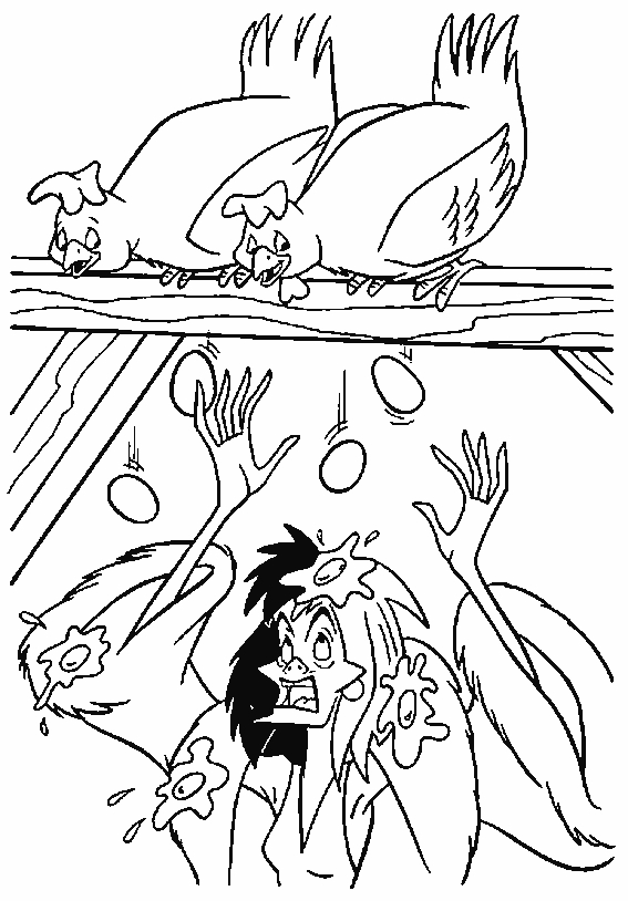Cruella DeVille - 101 Dalmations Coloring Pages