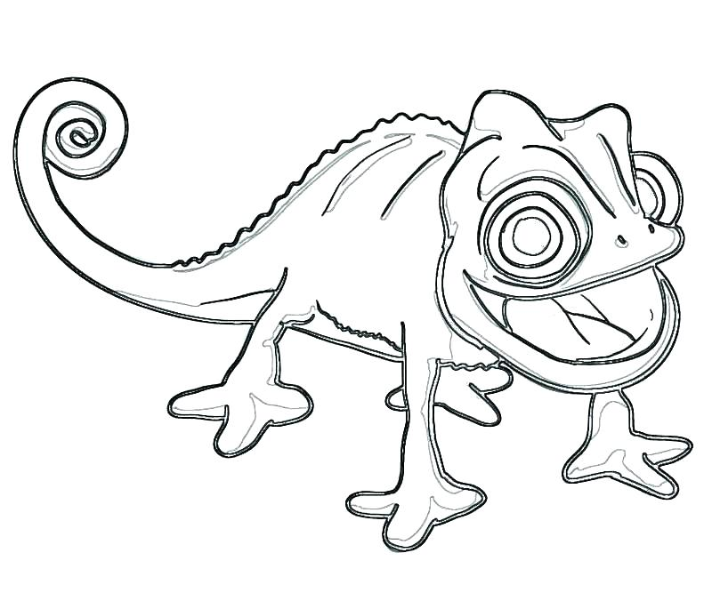 Cute Chameleon Coloring Pages