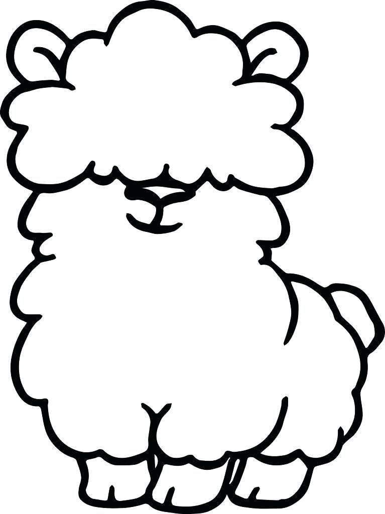 Cute Llama Coloring Pages