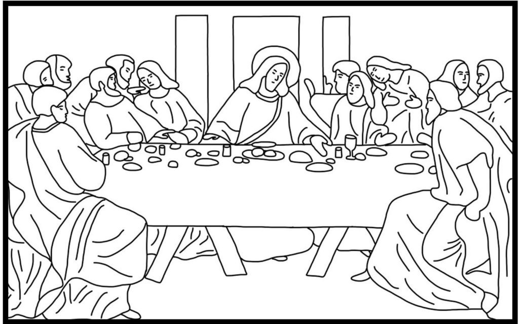 DaVinci Last Supper Coloring Page