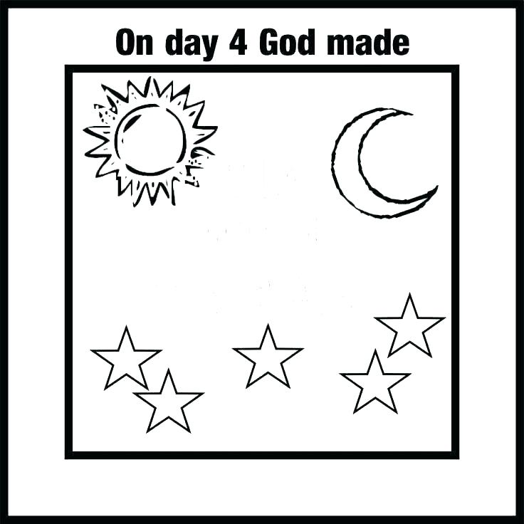 Day 4 Creation Coloring Page