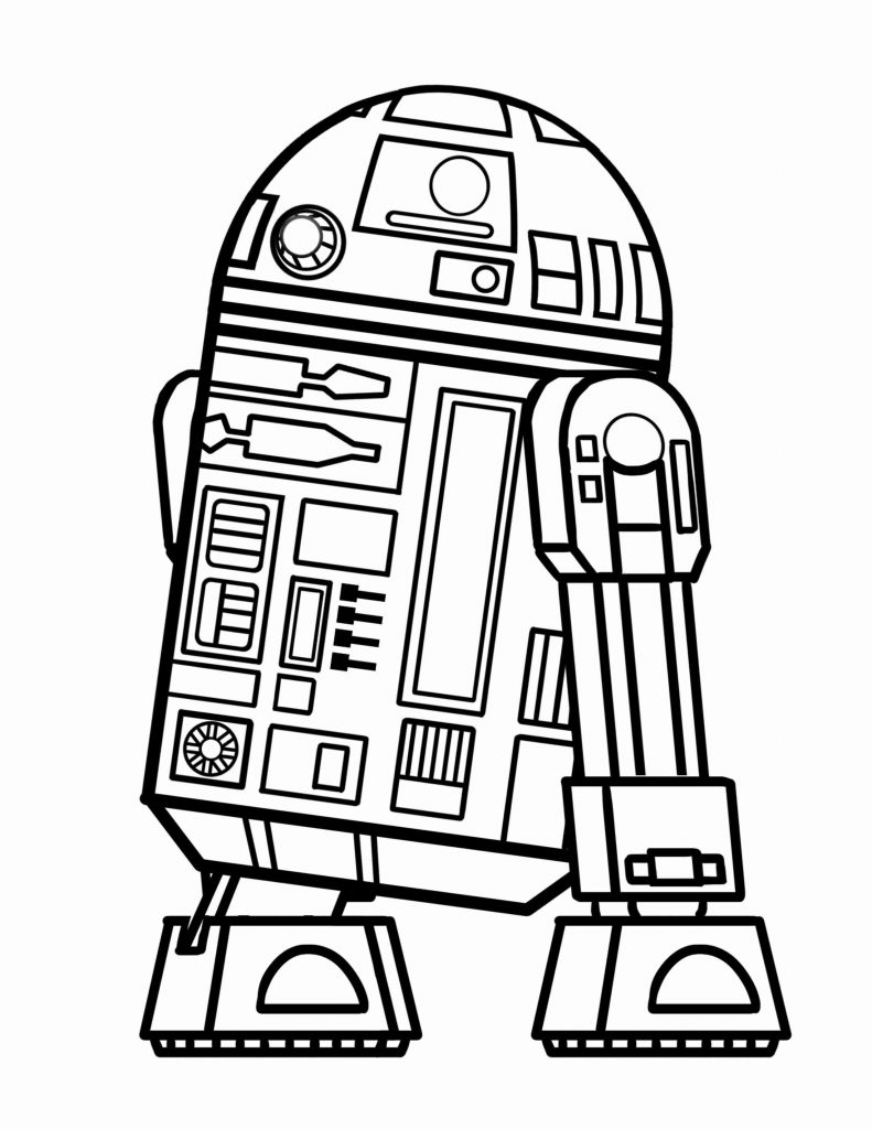 Easy Star Wars Coloring Page